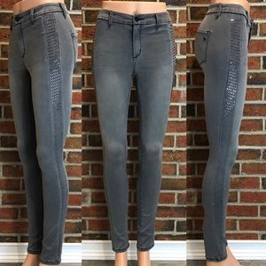 Jessica Simpson Aviana Highrise Skinny Gray Jeans